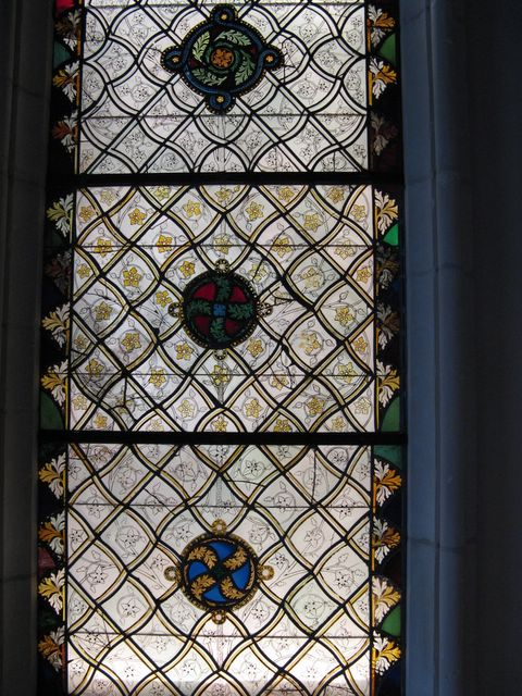 photo of stained glass window - The Cloisters, NYC