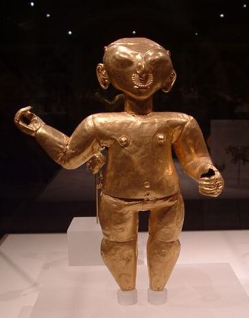 gold figure from South America at the Met