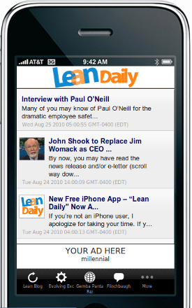 Lean Daily iPhone app