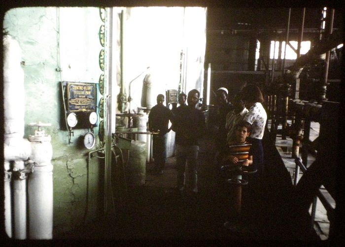 photo of factory tour with my family when I was a kid