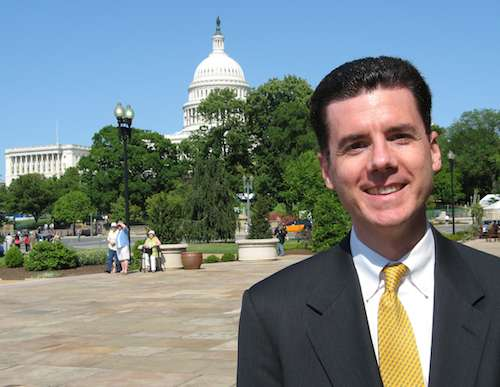 photo of John Hunter with the US Capital in the Background