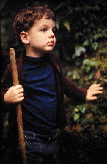 photo of John Hunter with a walking stick