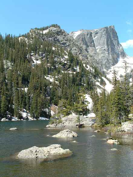 Lake with Mountain in the Background