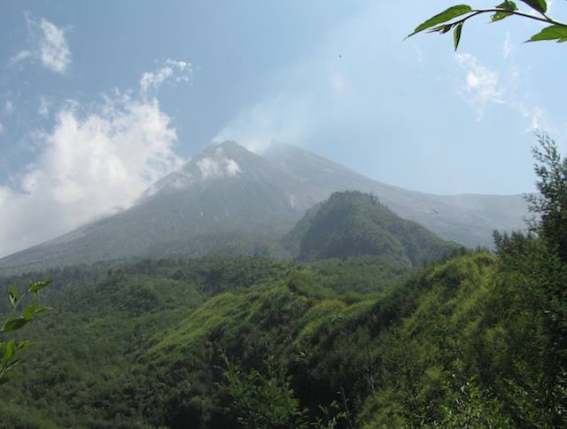 photo of Mount Merapi in Indonesia