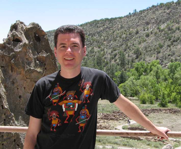 John Hunter at Bandelier National Monument