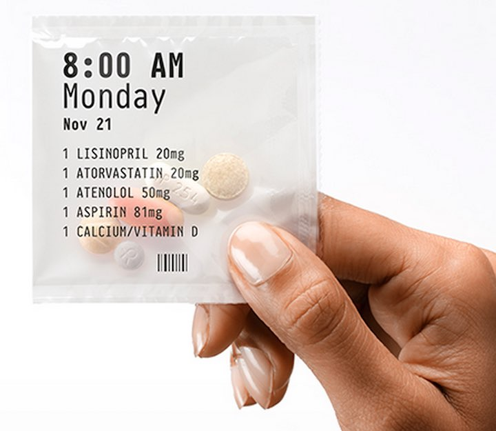 prescription pills packaged together