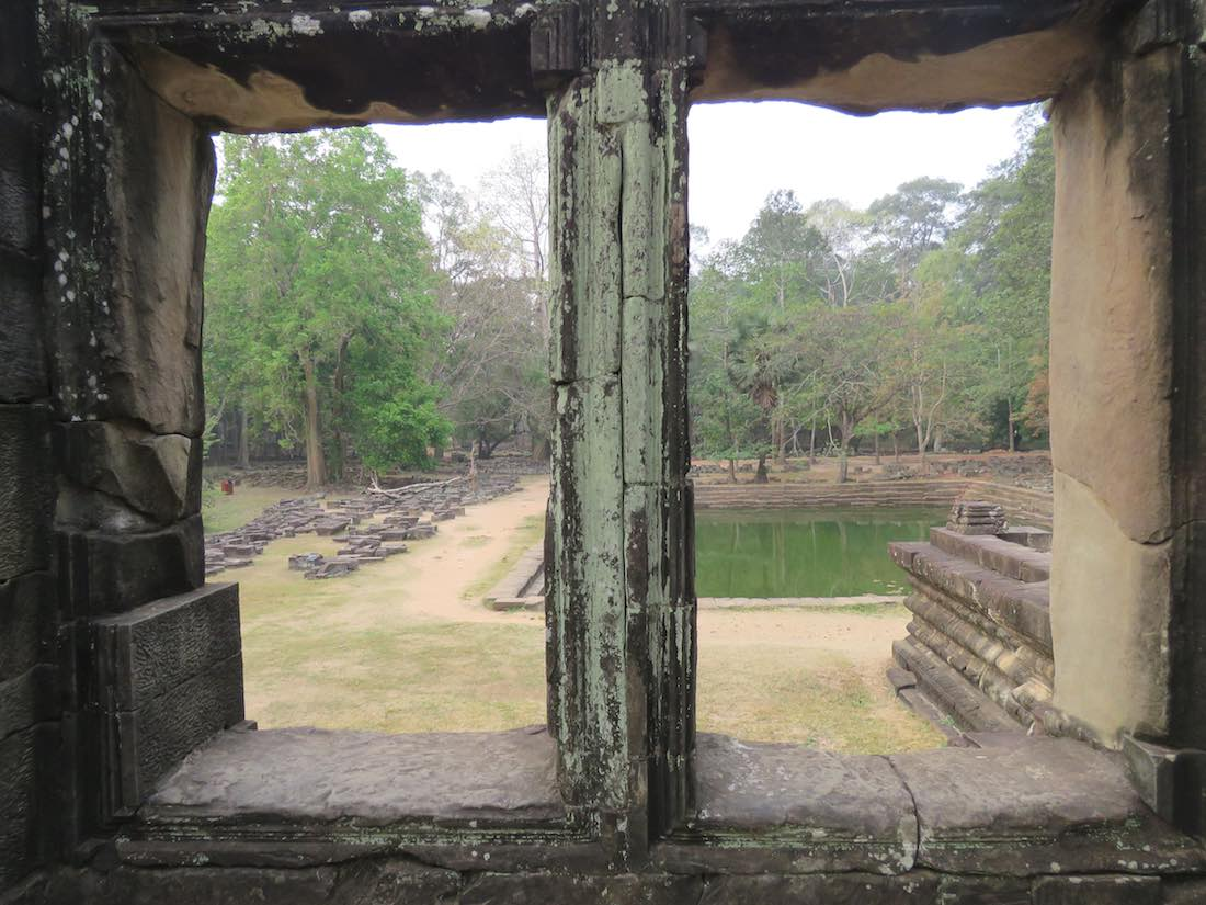 view out windows of a temple