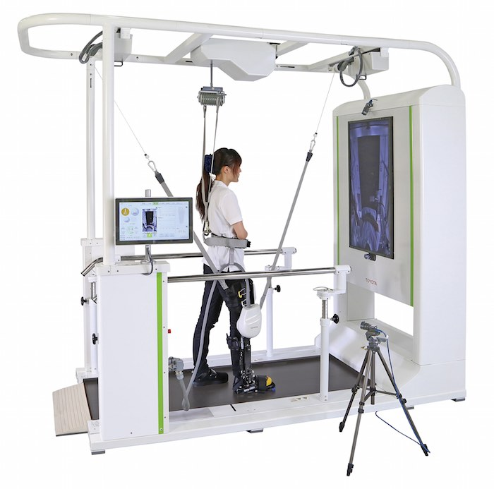 image of the Toyota support system for rehabilitation of walking in stroke victims