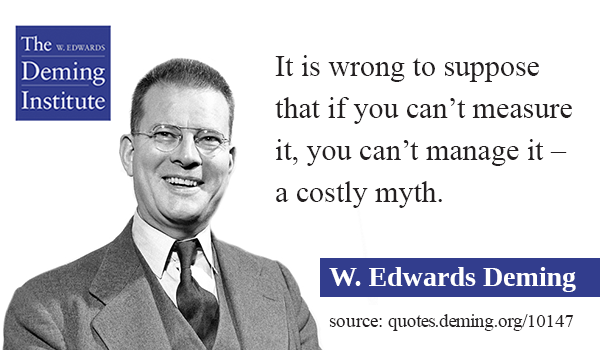"image of quote - ""It is wrong to suppose that if you can't measure it, you can't manage it – a costly myth."""
